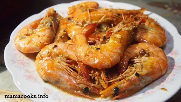 buttered shrimps