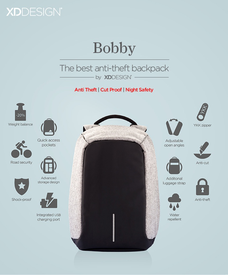 BOBBY Anti-Theft Backpack by XD Design Philippines