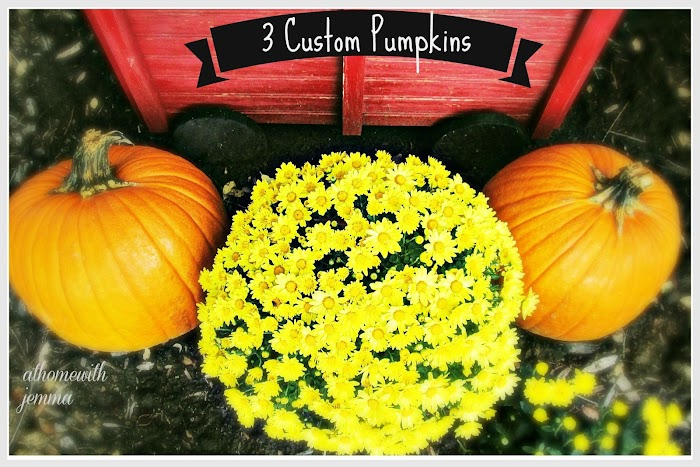 3 Custom Pumpkins