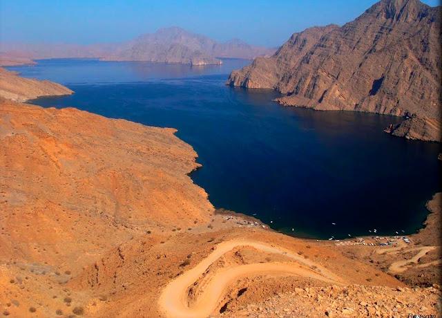estrada da península de Musandam - Omã