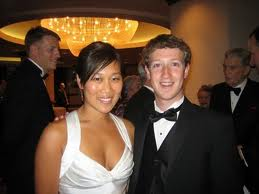 Mark Zuckerberg and his new bride Priscilla Chan!
