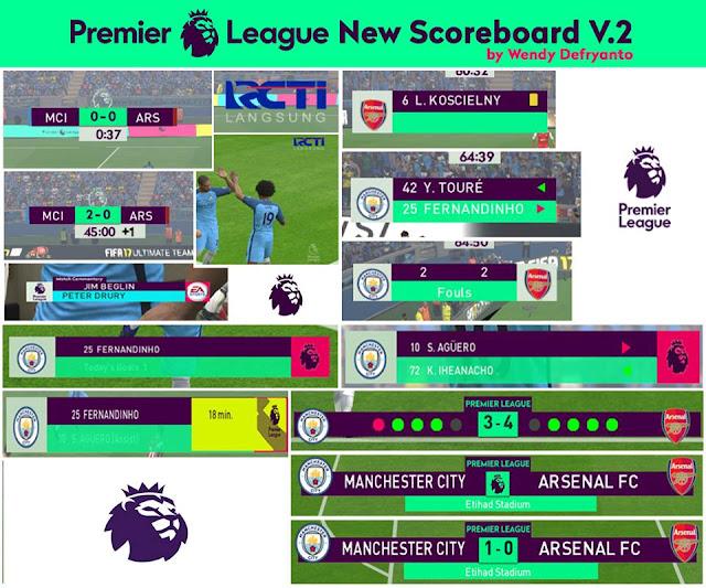 PES 2017 Premier League Scoreboard V2 + Logo RCTI & ESPNHD dari Wendy