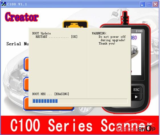 BMW Creator C110+ update