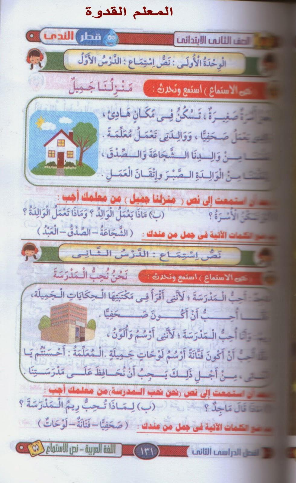 دروس اللغة العربية الكاملة الغير منهجية للصف الثانى الإبتدائى ترم ثانى 2015 2.jpg