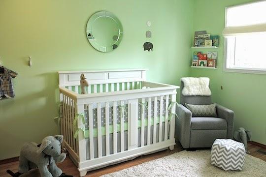 Dormitorios de beb en color verde colores en casa - Habitacion infantil verde ...