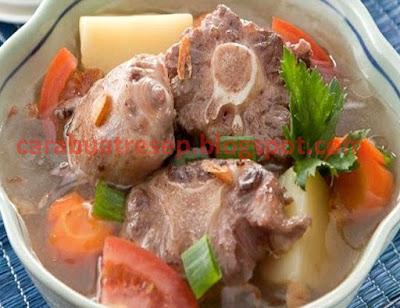 Foto Resep Sop Tulang Iga Sapi Daging Bening Sederhana Spesial Komplit Istimewa Asli Enak