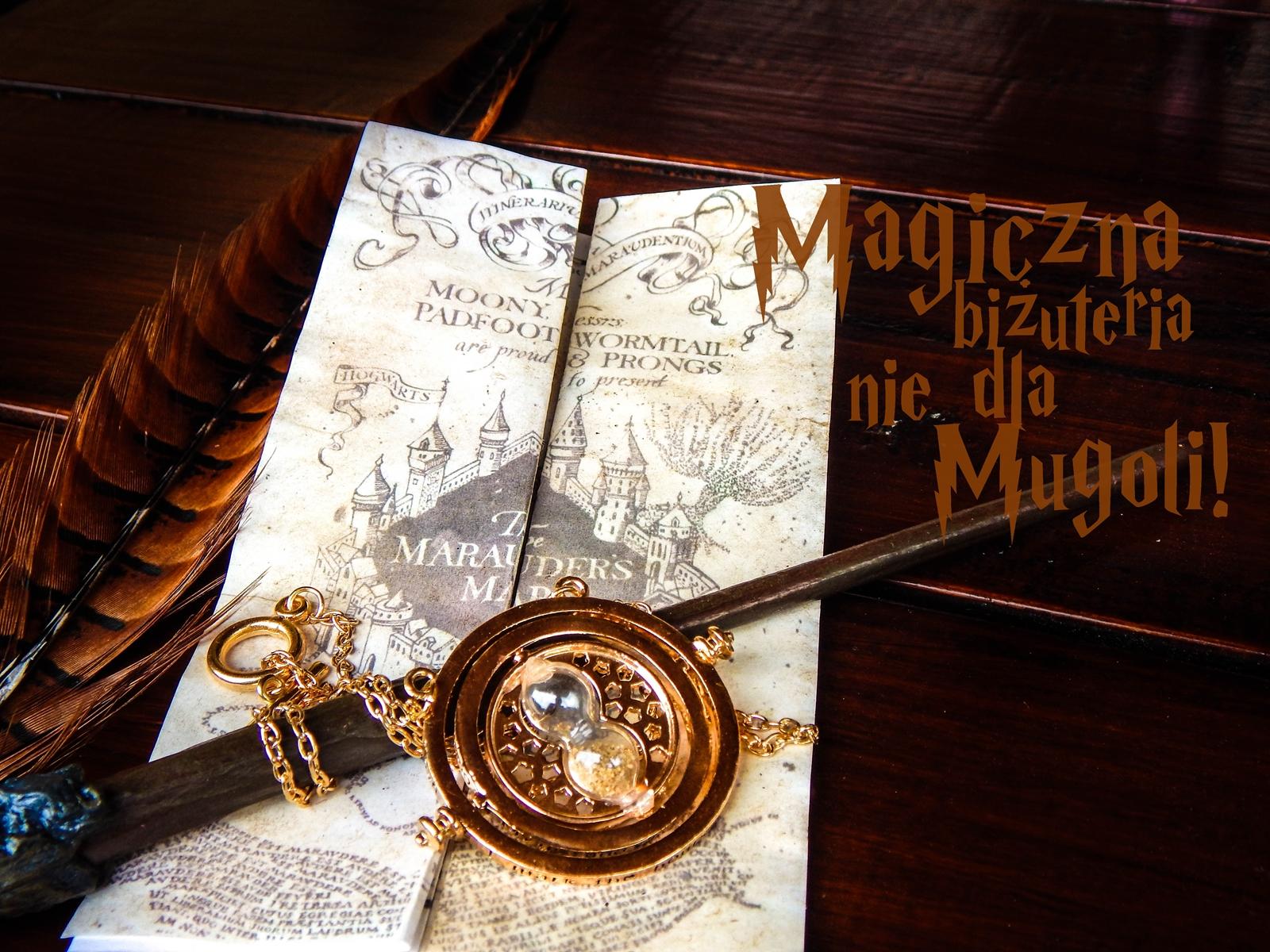 harry potter różdżka zmieniacz czasu mapa huncwotów ksiązki mugole prezenty bizuteria złoty znicz pióro sowa mapa dla fanów prezent złoto