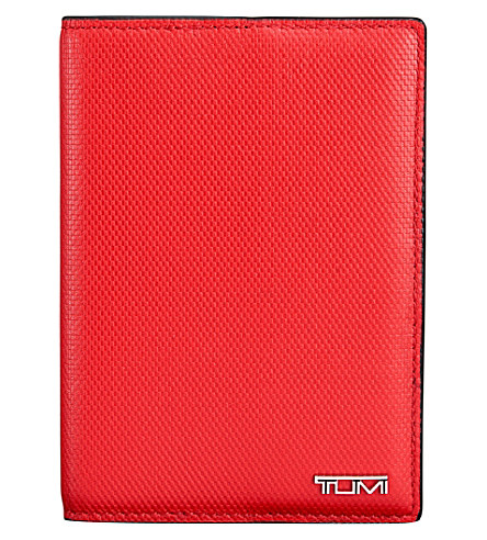 Tumi Travel Document leather case