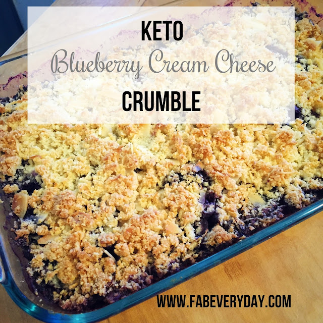 Keto Blueberry Cream Cheese Crumble Recipe