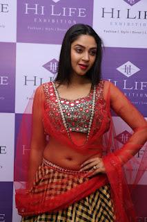 Actress Angana Roy Stills in Lehnga Choli at Hi Life Exhibition Launch   (1)