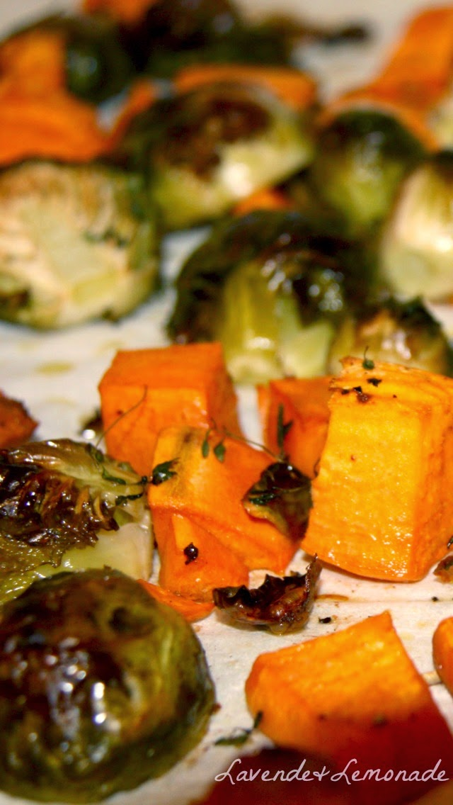 Oven-Roasted Vegetables with Thyme - Recipe from Lavende & Lemonade