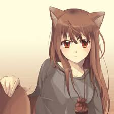 Anime girl with brown hair top 10 anime party network despite being in her human form she still retains her wolf tail and ears which are covered in beautiful brown fur voltagebd Choice Image