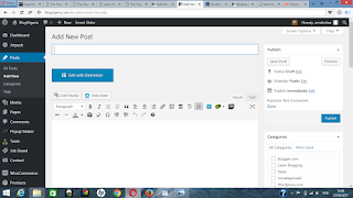 add new post in wordpress