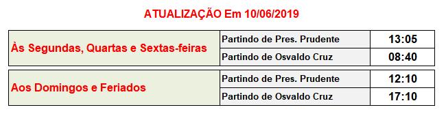 Jandaia Horarios Osvaldo Cruz