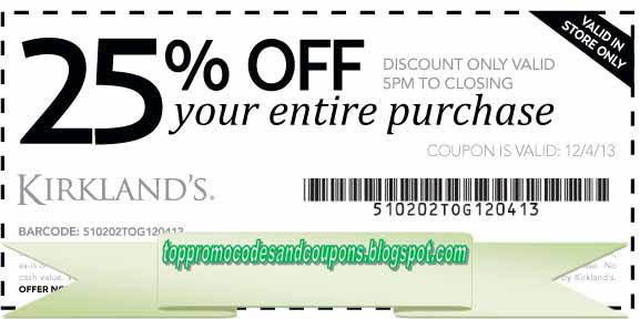 Free Promo Codes And Coupons 2017: Kirklands Coupons