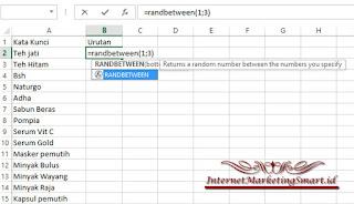 Cara Mudah Menentukan Kata Kunci, Cara Mudah Optimasi, Cara Mudah Mengunakan Rumus Microsoft Office Excel,