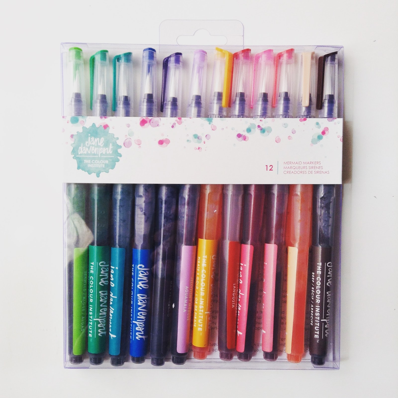 The Jane Davenport Mermaid Markers Set Comes With 12 Pre Filled Bright  Watercolors In Aqua Brushes. The Colors Are Extremely Vibrant And Once The  ...