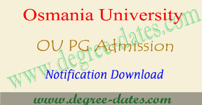 OU pgcet notification 2017 apply online oucet 2017-2018 pg admissions