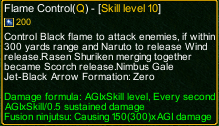 naruto castle defense 6.0 inferno flame control detail