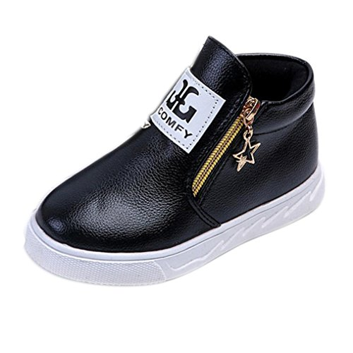 77665e06 #2 #years Moonker Baby Shoes for 1-5 Years Old,Toddler Boy Girl Kids  Fashion Autumn Zip Martin Boots Sneakers Casual Shoes (2.5-3 Years Old,  Black) 2019