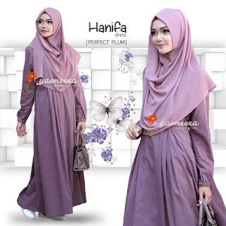 Gamis Yasmeera Hanifa Dress Perfect Plum