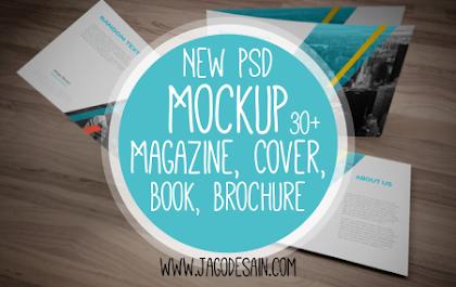 Download Gratis Kumpulan Mockup Magazine, Book, Cover dan Brochure PSD