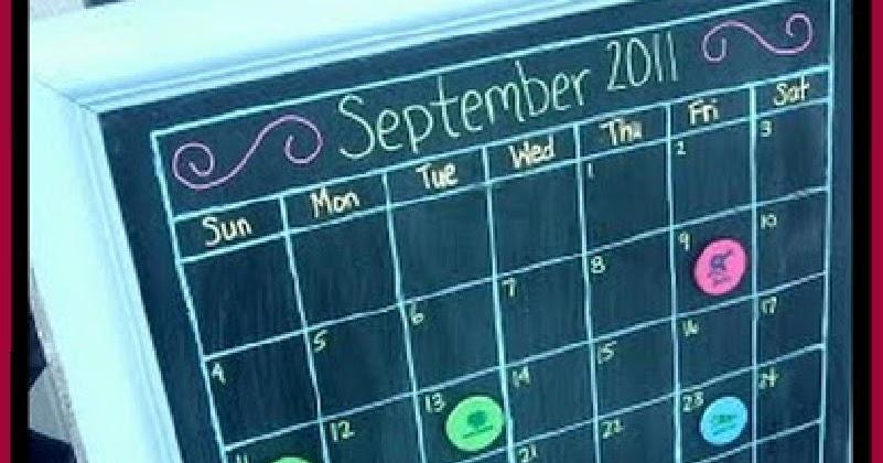 Chalkboard Calendar Canada : Dollar store crafter make your own chalk board calendar