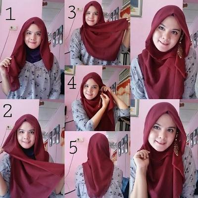 tutorial hijab sehari hari zaskia sungkar