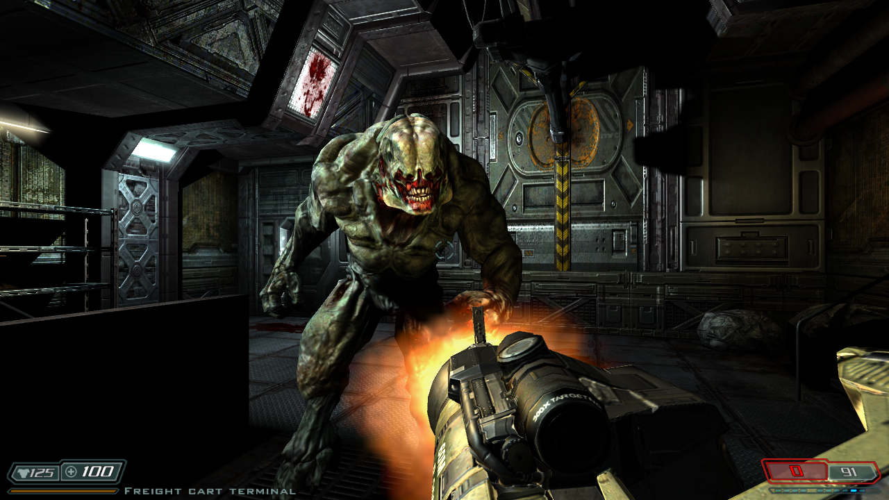 Doom 3s Gameplay Is A First Person Shooter But Unlike The Two Games It Dials Things Back In Terms Of Speed So You Can No Longer Run Like Doped Up