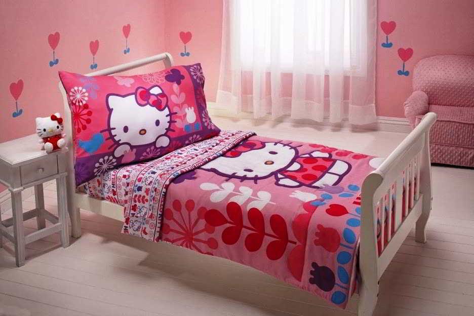 Model Desain Kamar Tidur Hello Kitty Lucu