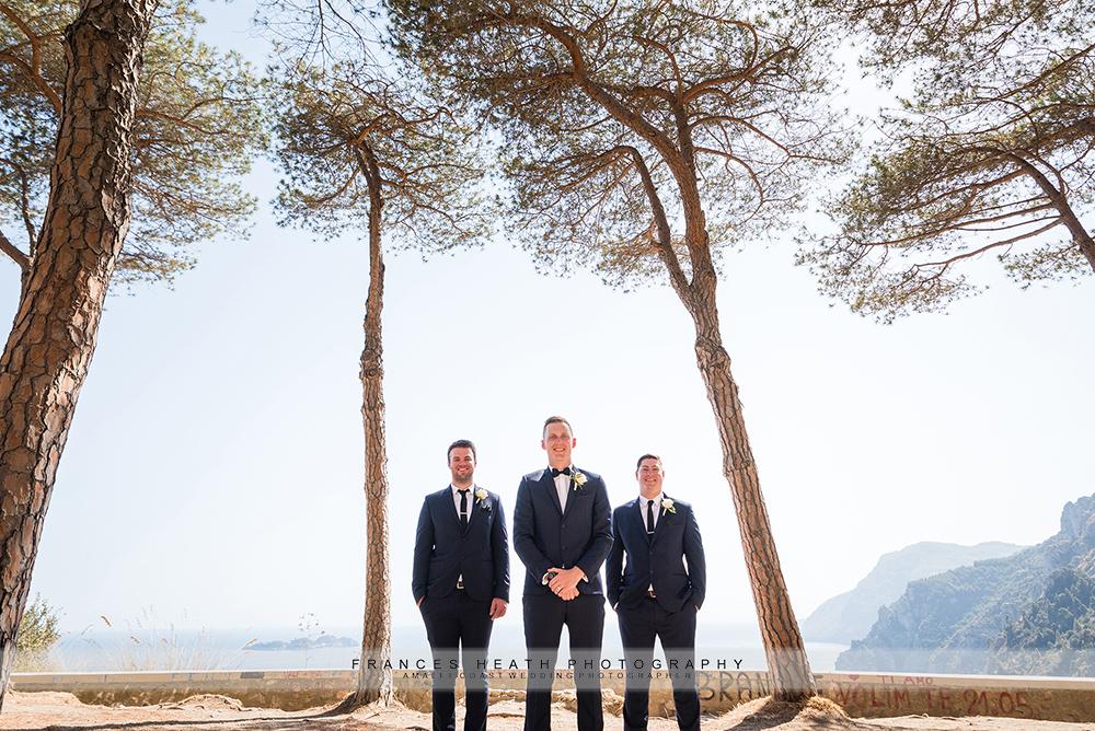 Groomsmen in Positano