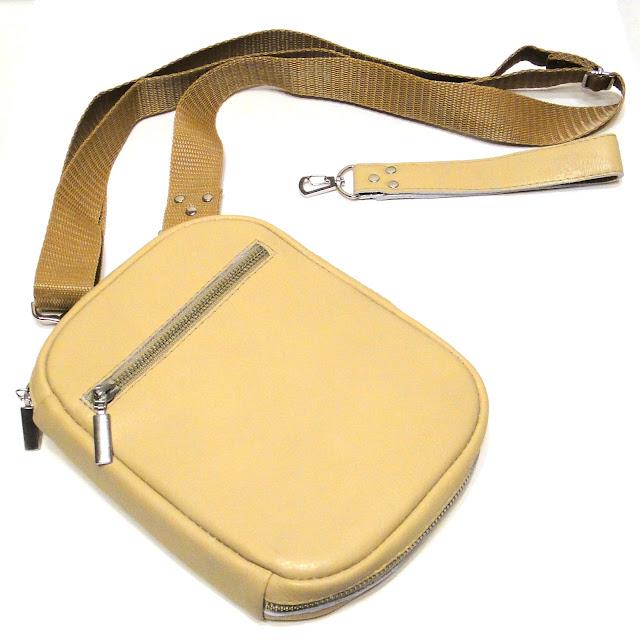 Мужская кожаная сумка барсетка - ручная работа, доставка почтой или курьером
