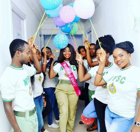 Beautiful NYSC-inspired birthday shower of a female Corper