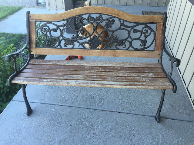 Old Weathered Park Bench in need of Restoration