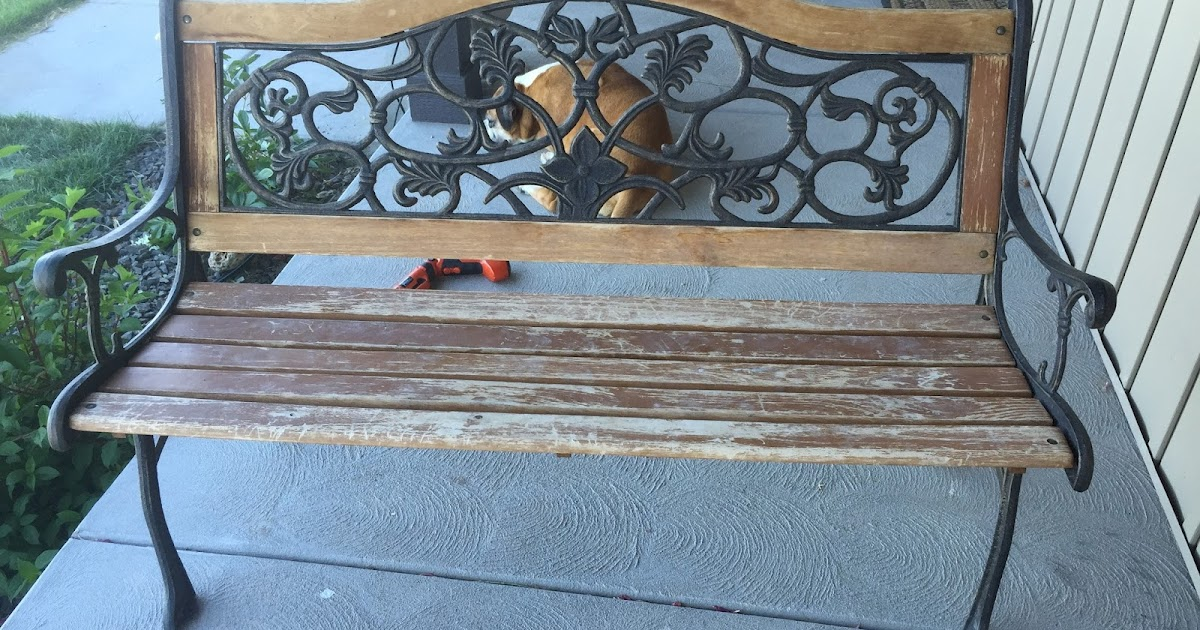 How To Restore An Old Park Bench With Spray Stain A