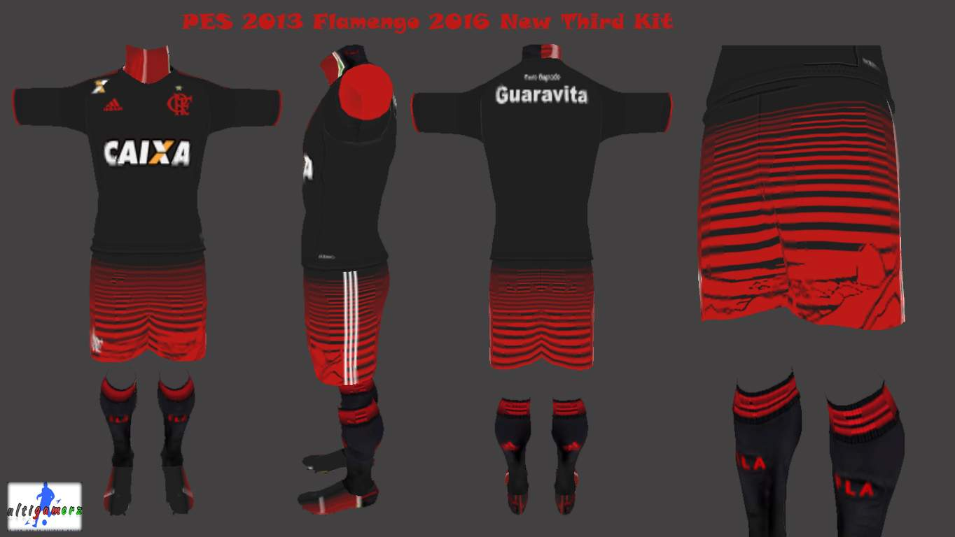 ultigamerz  PES 2013 Flamengo New Third Kit 2016 17 31ffbc370