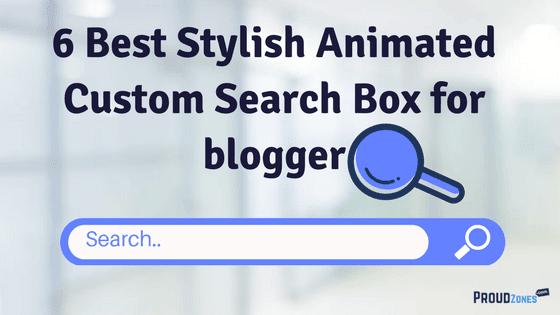 Stylish Custom Search Box widget for blogger