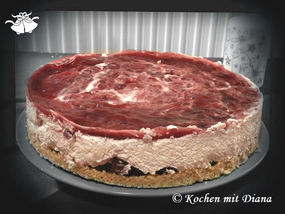 Sauerkirsch-Frischkäse-Torte