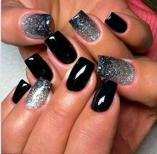 sliver-shimmer-nail art