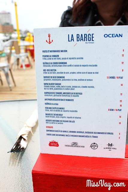 La Barge Transat Québec St-Malo foodie restaurant