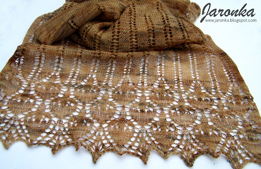 Brown Rose Lace Stole