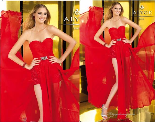 Resultado de imagem para vestidos vermelhos de formatura curtos