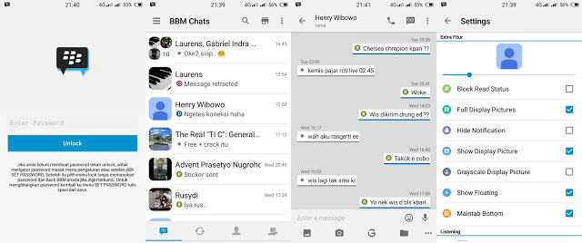 BBM Mod IOS Light v8 Based  VS  BBM Mod Oppo v2 Based