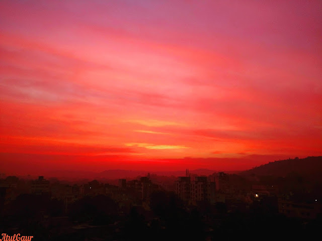 A Beautiful Sunrise At Pune
