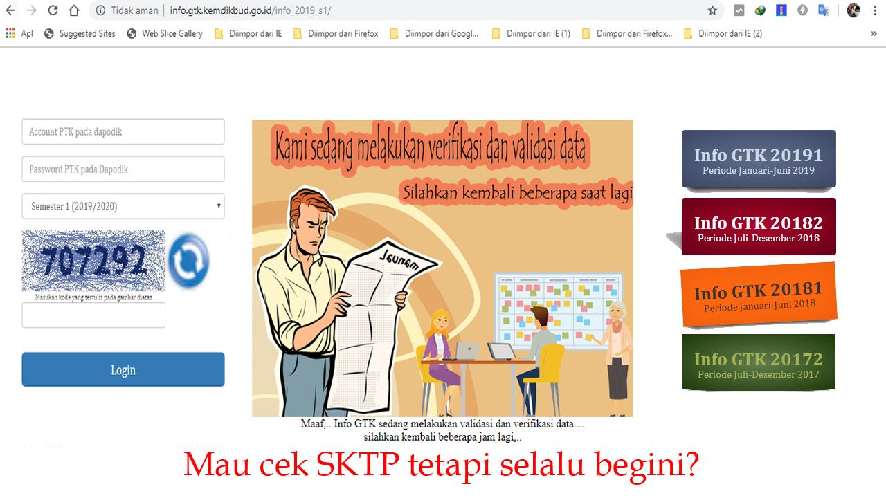 Cara Login di Info GTK terbaru untuk Semester 1 Tahun 2019-2020