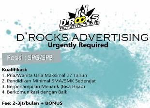 Lowongan Kerja di D'Rocks Advertising Makassar