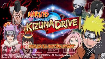 Naruto Shipudden Kizuna Drive PSP High Compress untuk Android Terbaru