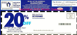 Bed Bath and Beyond coupons december