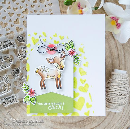 Fawn card by Tatiana Trafimovich | Deer Friend Stamp Set by Newton's Nook Designs #newtonsnook #handmade