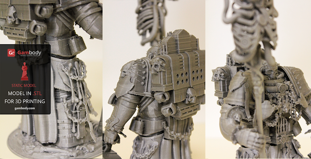 Warhammer40k Chaplain 3D print action figure